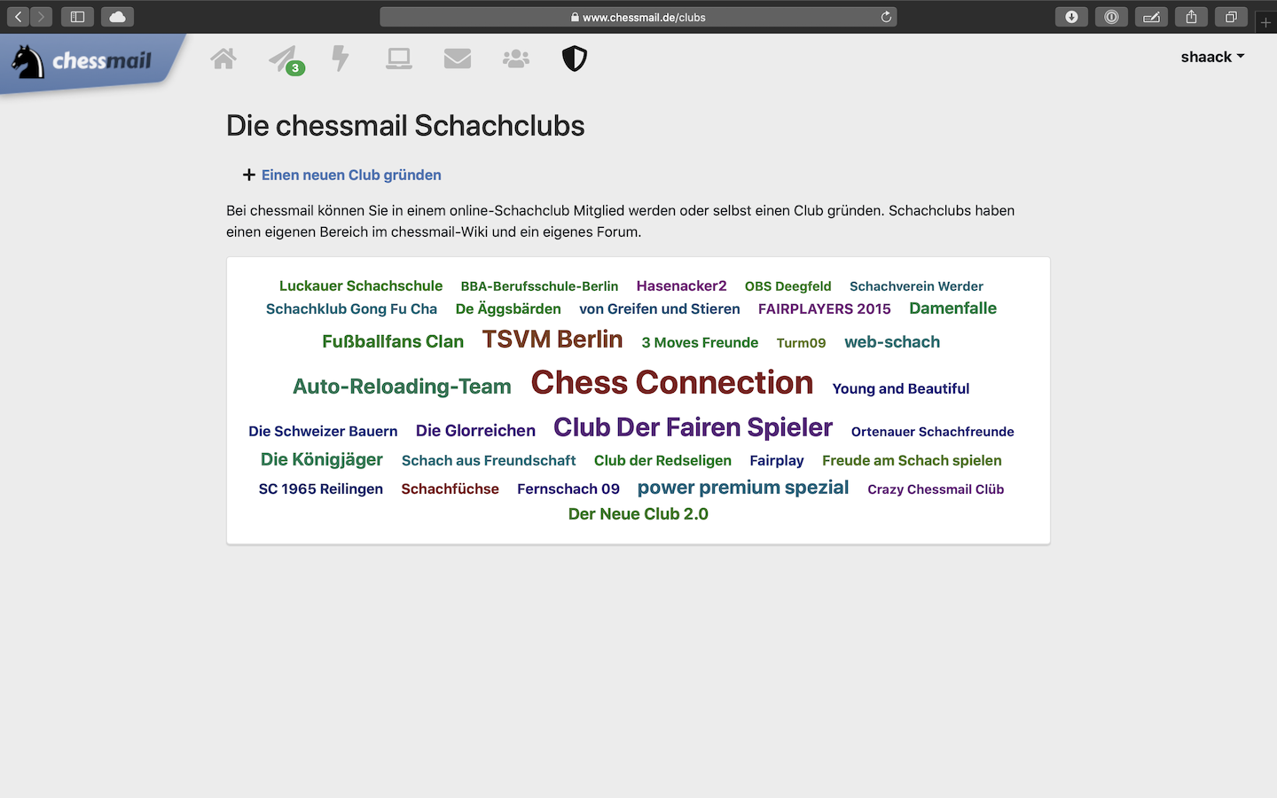 At chessmail you can found a chess club
